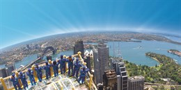 WALK ON THE EDGE. WIN A DOUBLE PASS TO SKYWALK AT SYDNEY TOWER EYE