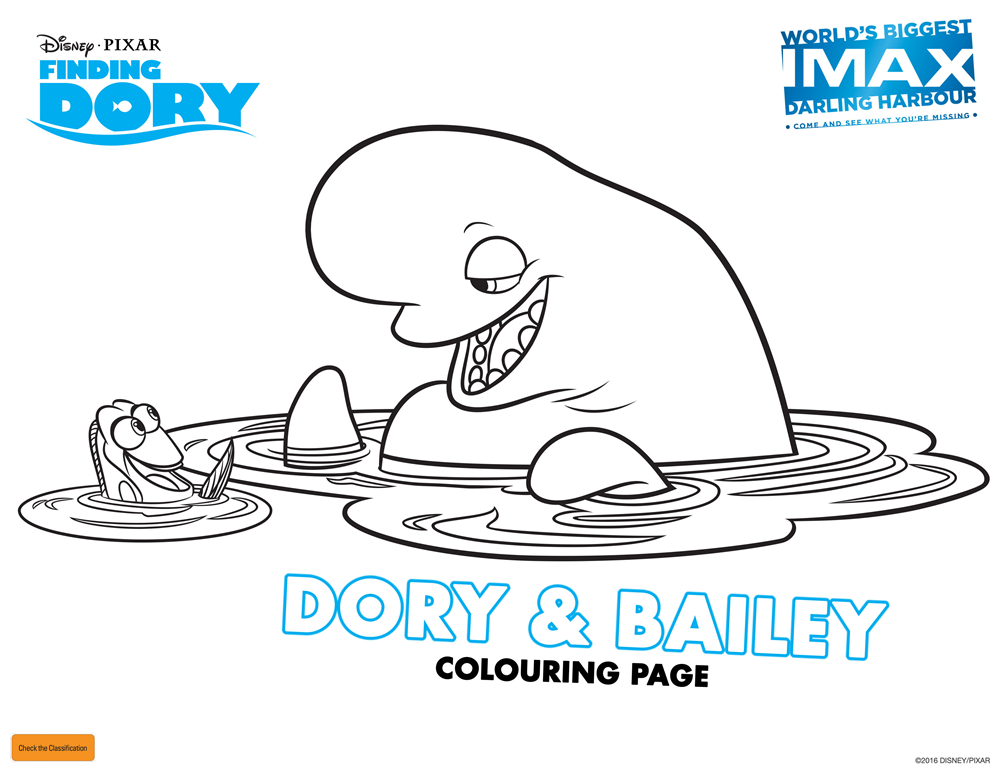 Finding Dory Colouring In Competition! - IMAX Sydney